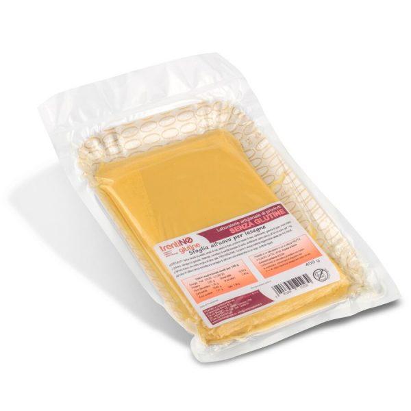 Sfoglia per lasagne all'uovo senza glutine 400 g